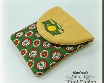 bag for camera accessories and lens cap, green yellow