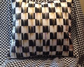 Black and White Checks 18x18 Mackenzie Childs Inspired!!