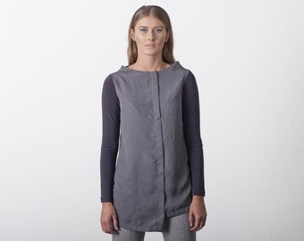 SALE 20%, Womens Cardigan, Gray Cardigan, Long Shirt, Clothes for Women, Ladies Tops, Work Wear, Office Clothes, Business Casual