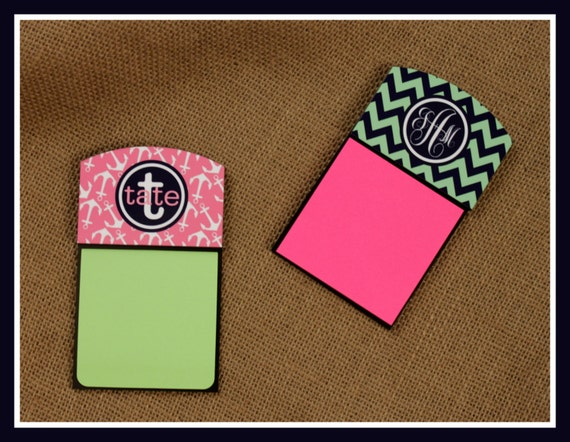 Gifts for Coworkers Personalized Sticky Note Holder Office Accessories Desk Decor Monogrammed Gift for Employees Gift for New Employees
