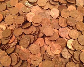 1000 U.S. Copper Pennies (Dated 1959-1982)  **95% COPPER BULLION**