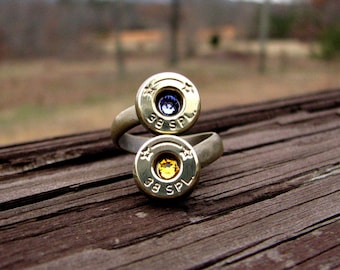 Statement Ring- Double Ring- Bypass Ring- Girlfriend Gift- Couples Gift- 38 Special Ring- Mother of two- Best Friend Gift- Mother Jewelry