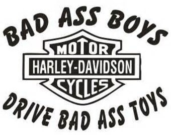 Bad Ass Boys Drive Bad Ass Toys Car Decal