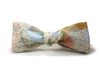 world map bowtie, map bowtie, maps of the world, wedding bowtie, world traveler gift, geography bowtie, teacher bowtie, travel bowtie,