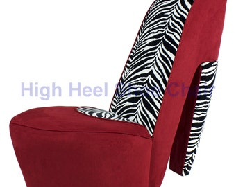 and zebra high heel shoe chair shoechair