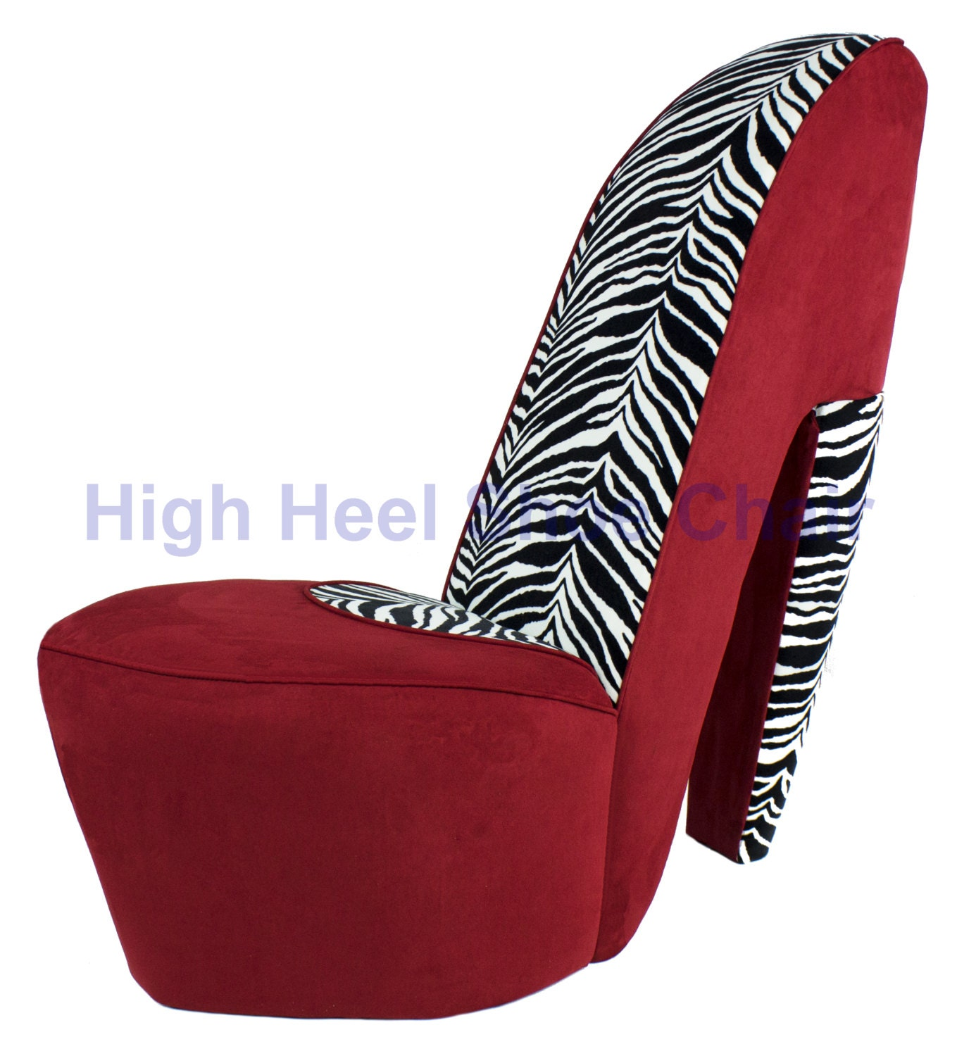 and zebra high heel shoe chair by highheelshoechaircom