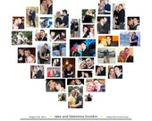 Hnliche artikel wie hochzeit fotocollage herz collage leinwand collage photo collage - Leinwand fotocollage ...