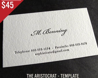 100 Custom Letterpress Business Cards - The Aristocrat