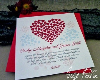 SAMPLE, Wedding Invitation Set, Hearts 2