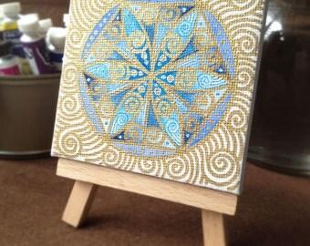 Original Mandala painting: Mandala 7-5cmSQ-32