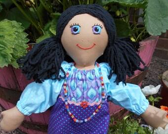 Hand made rag doll Skye