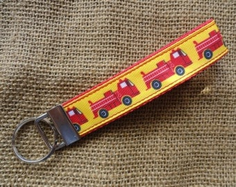 Red Fire Engine Key Fob Wristlet