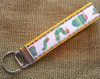 The Very Hungry Caterpillar -Eric Carle Inspired- Key Fob Wristlet