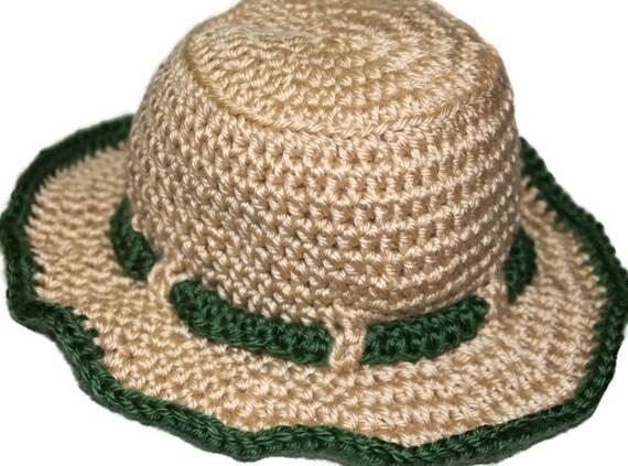 Kids fisherman fishing hat handmade crochet by for Youth fishing hats