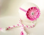 CROCHET PATTERN  - Pink Water Lily Baby Hat