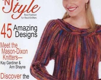 SALE!  Lonely Destash Magazine - Knit n Style December 2008 - Excellent Condition