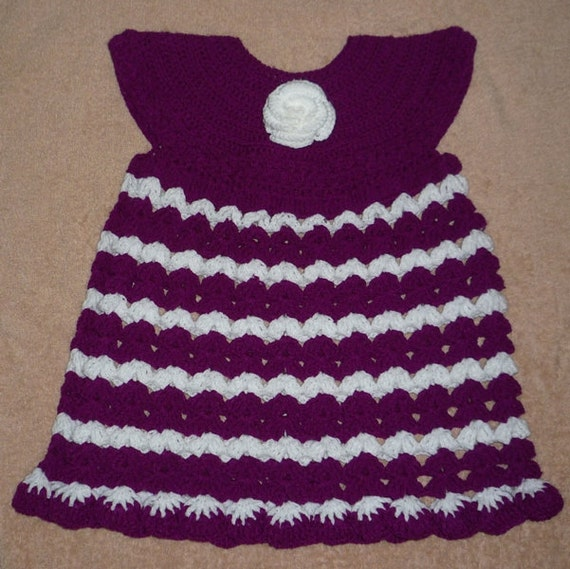 Crochet pattern for one to two year old kids dress and hat