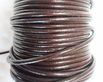 5 feet 2mm Round Brown Cord,