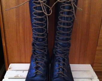 Vintage Tall Leather Lineman Boots