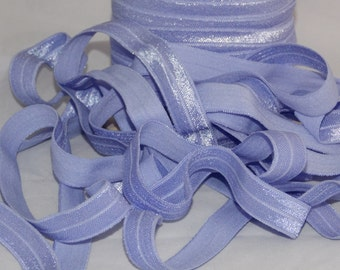 "10 yards IRIS Fold Over Elastic FoE 5/8"" - DIY Hair Ties & Headbands Soft Stretchy No Pull Material"