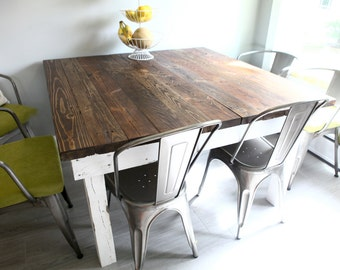 Farmhouse Reclaimed Wood Dining Room Tables And Rustic Kitchen Tables