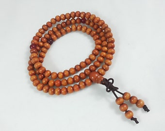 106pcs. X 6 mm  sandalwood  buddhist beads. Malla prayer beads(C1046b)