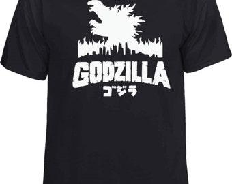 Godzilla 2000 City On Fire Men's Tshirt