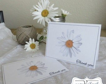 Instant Download Thank You Card - Daisy