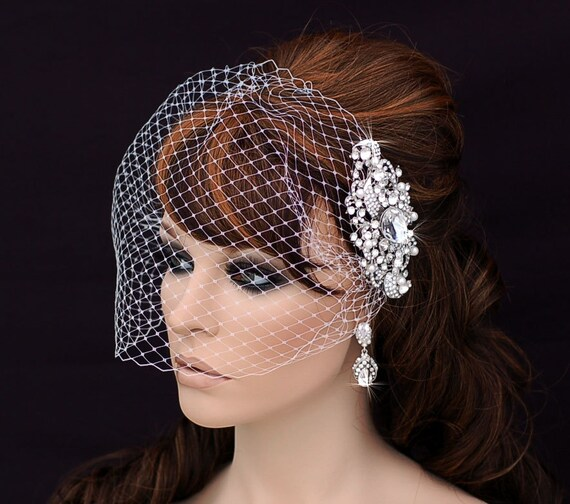 Crystal Comb And Birdcage Veil Bird Cage Veil By EleganceByKate