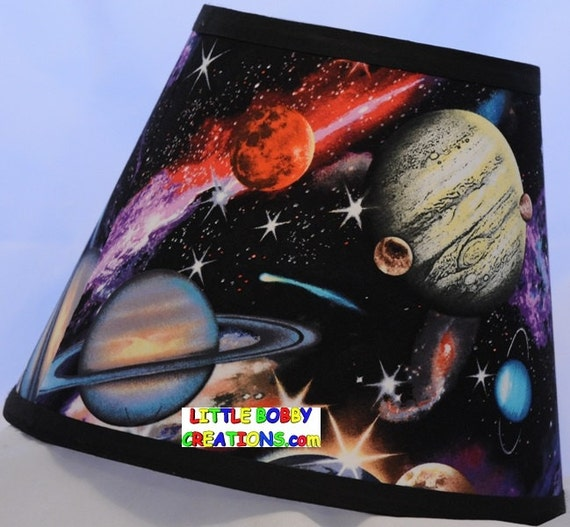 Solar system space planets fabric lamp shade 10 sizes to for Solar system fabric