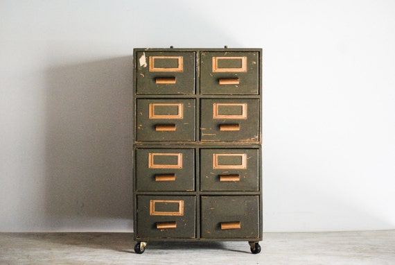 Card Catalog File Cabinet Card Cabinet Library Card