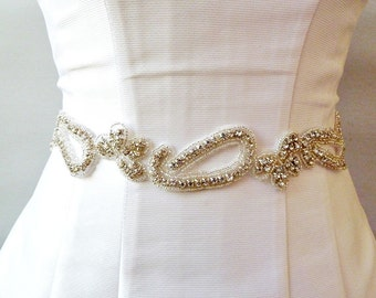 BRIDAL RHINESTONE SASH , Wedding Sash ,wedding Rhinestone sash , jeweled sash, Bridal crystal belt, jeweled Belt, bridal belt