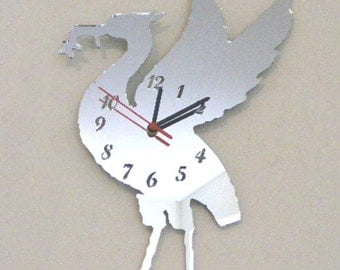 Liver Bird Clock Mirror - 2 Sizes Available