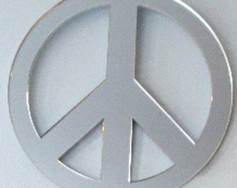 Peace Symbol Shaped Mirror - 5 Sizes Available