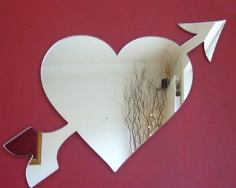 Heart and Arrow Mirror - 5 Sizes Available