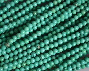Blue Turquoise Greenish Color Round Shape Size 4mm Full Strand