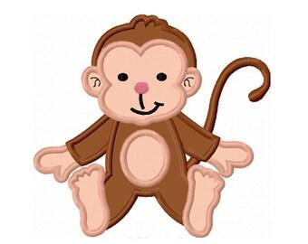 Little Monkey Applique Machine Embroidery Design NO:0151