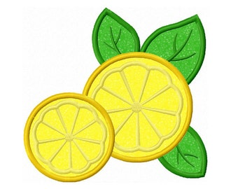 Lemon Applique Machine Embroidery Design NO:0180