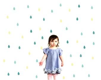Raindrop Wall Decals - Raindrop Fabric Wall Decals