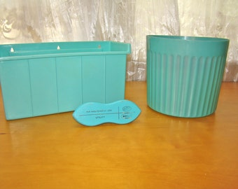 Popular items for bins buckets on etsy for Turquoise bathroom bin
