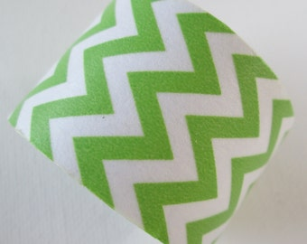 Washi Tape - Single Roll - Green and White Chevron - 30mm