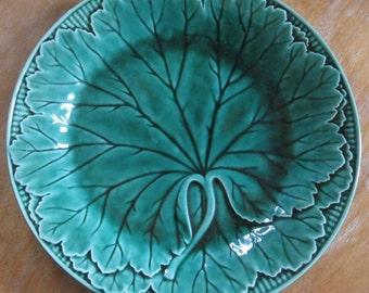 vintage Wedgwood leaf design plate majolica perfect condition