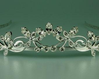 Wedding Tiara - Rhinestone Tiara - Luna Bridal Crystal Tiara - Bridal Hair - Wedding Jewelry - Bridal Headpiece