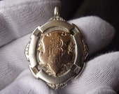 Victorian Sterling Silver & 9ct Gold Pocket Watch Fob by William James Dingley 1901