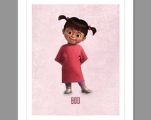 Digital Download Monsters Inc. Boo Poster Art Nursery Art Print, Walt Disney Monster's Inc. Nursery Art Girls Room - 8x10 or 11x14