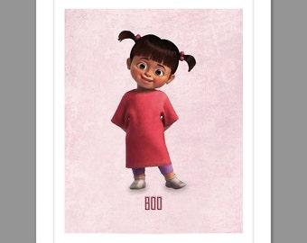 Digital Download Monsters Inc. Boo Poster Art Nursery Art Print, Walt Disney Monster's Inc. Nursery Art Girls Room - 8x10 or 11x14