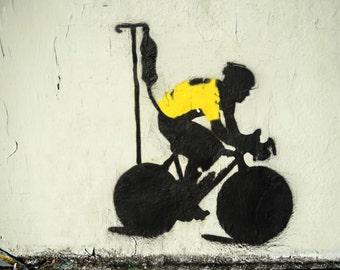 Banksy Canvas Lance Armstrong LA Street Art Grafitti Premium Print