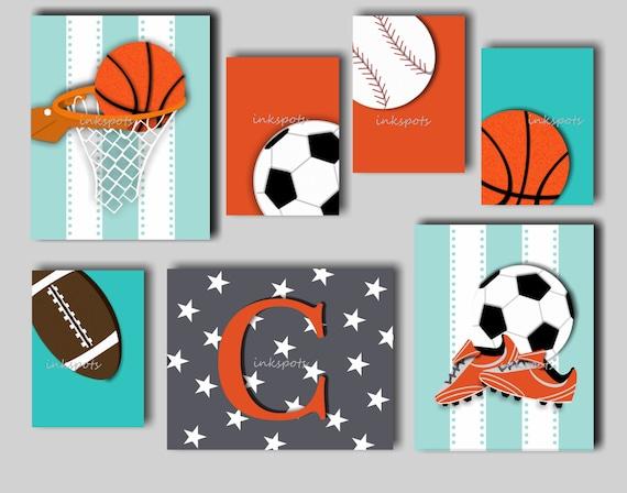 Baby Boy Nursery Art Boys Sport Prints Boys Sports Decor