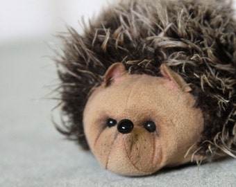 Adorable OOAK Mohair Hedgehog Artist Bear