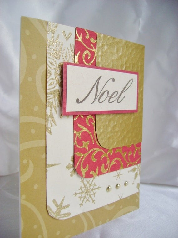 Handmade card christmas card elegant by designedbymarylou for Elegant homemade christmas cards